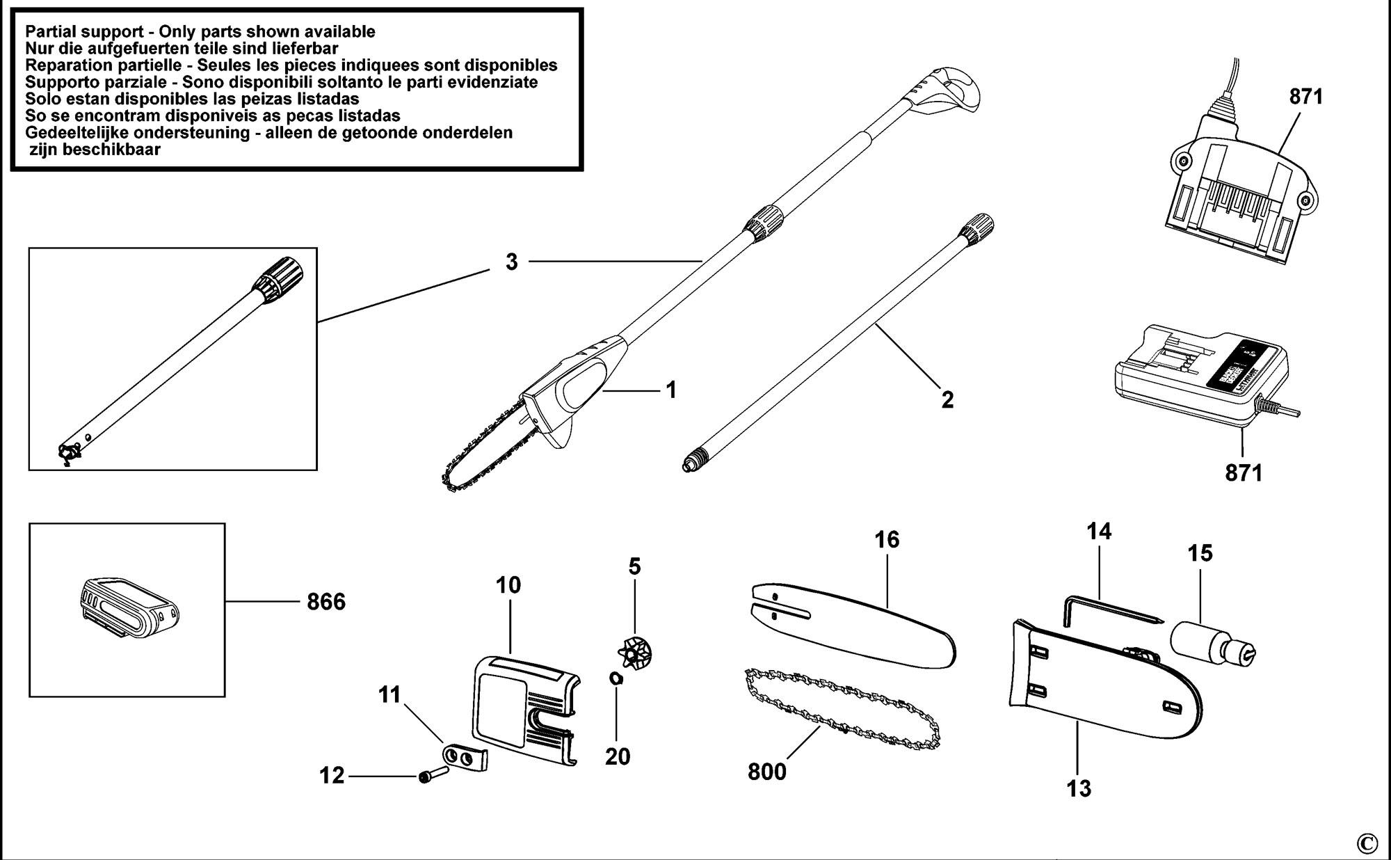 Spares For Black Amp Decker Gpc L Pruner Type H1