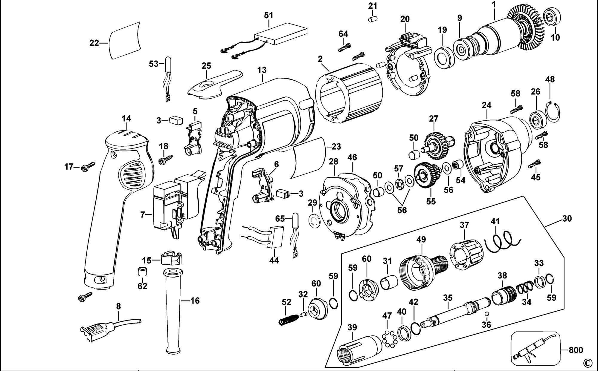 Spares For Dewalt Dw268 Screwdriver Type A4 Spare Dw268