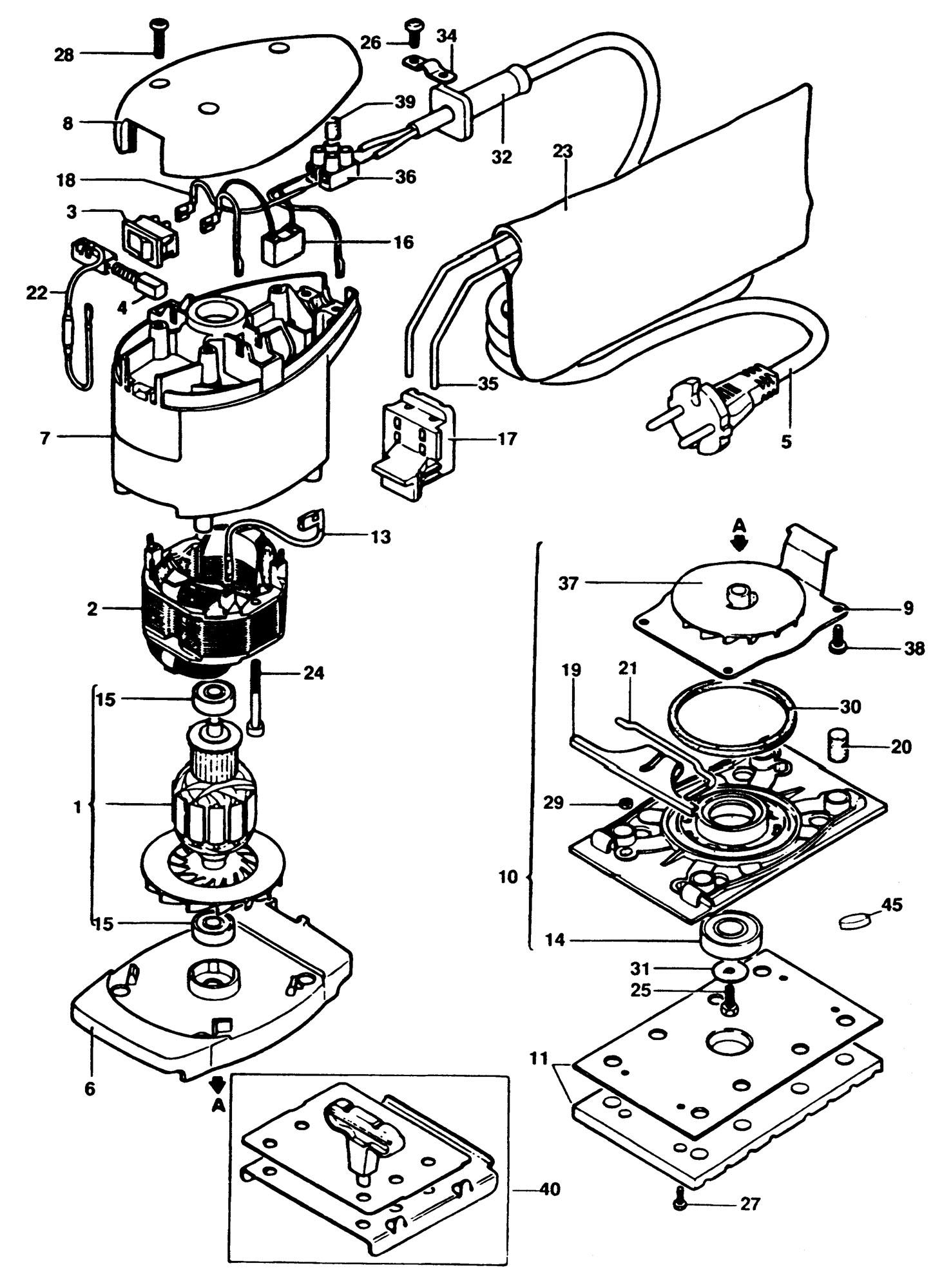Spares For Black Amp Decker P Sander Type 1 Spare