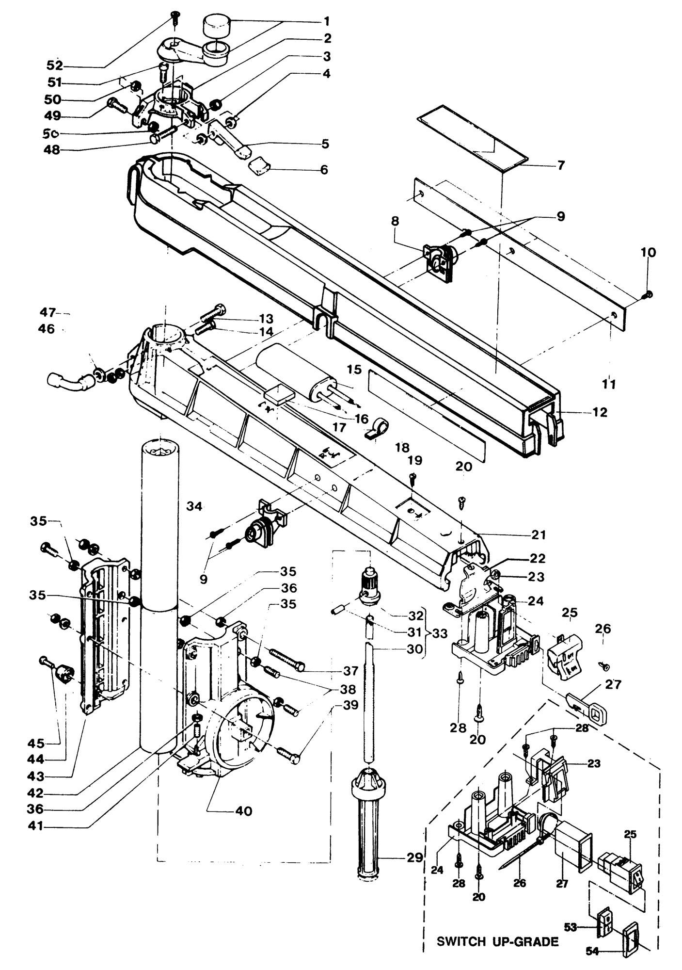 Spares For Dewalt Dw B Radial Arm Saw Type 1