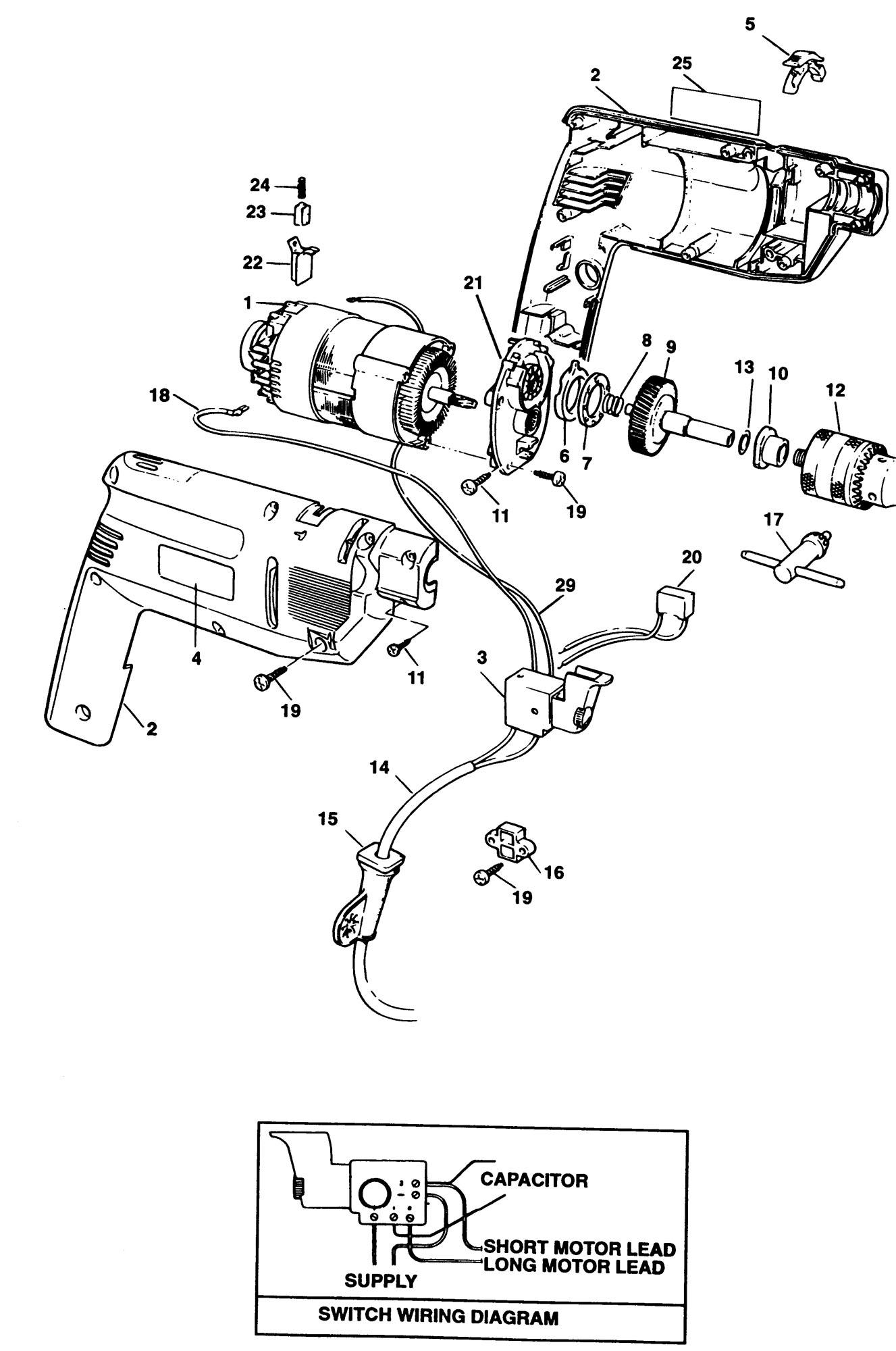 Spares For Black Amp Decker Bd143v Hammer Drill Type 1
