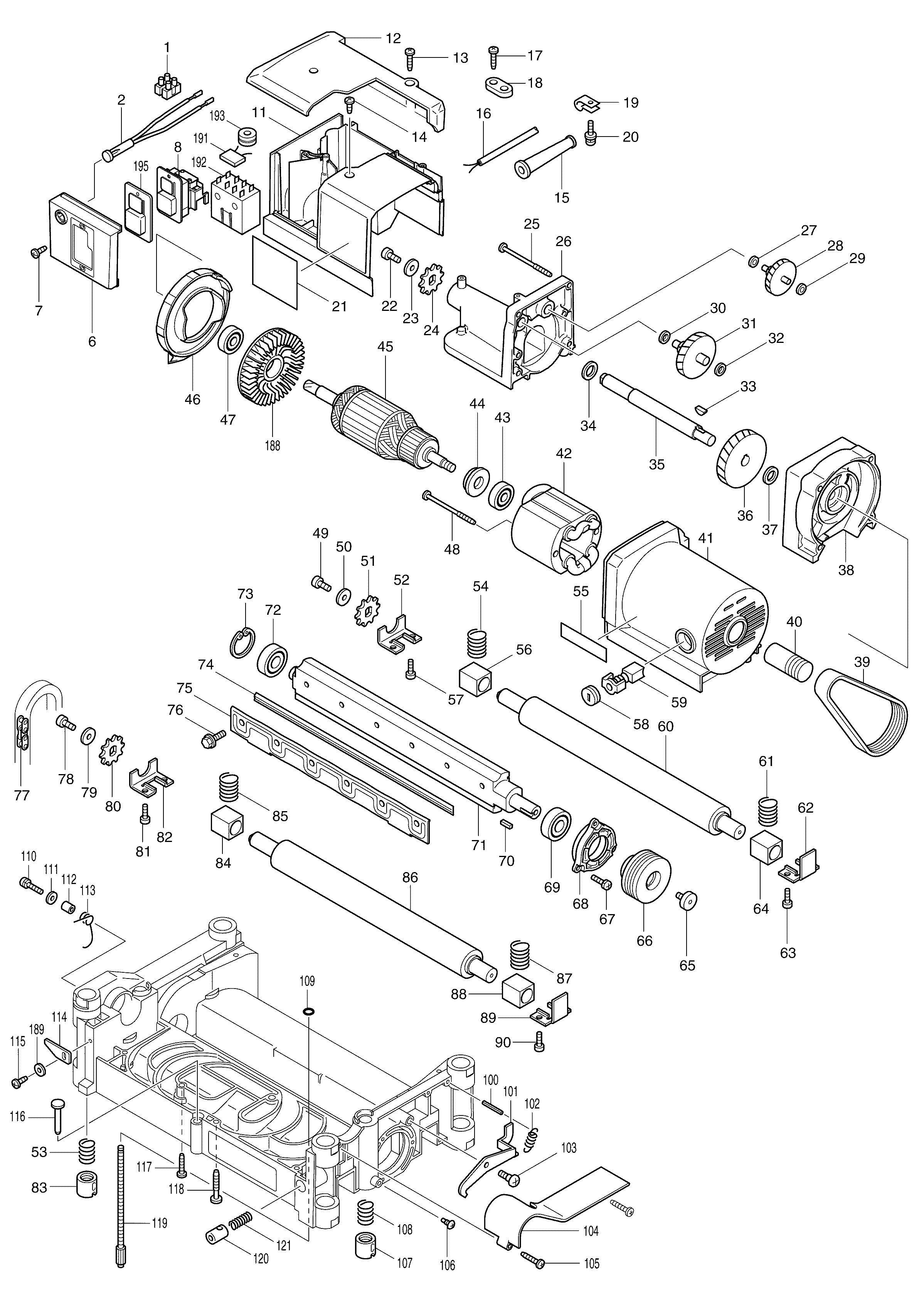 Spares For Makita Nb Thicknesser Spare Nb From
