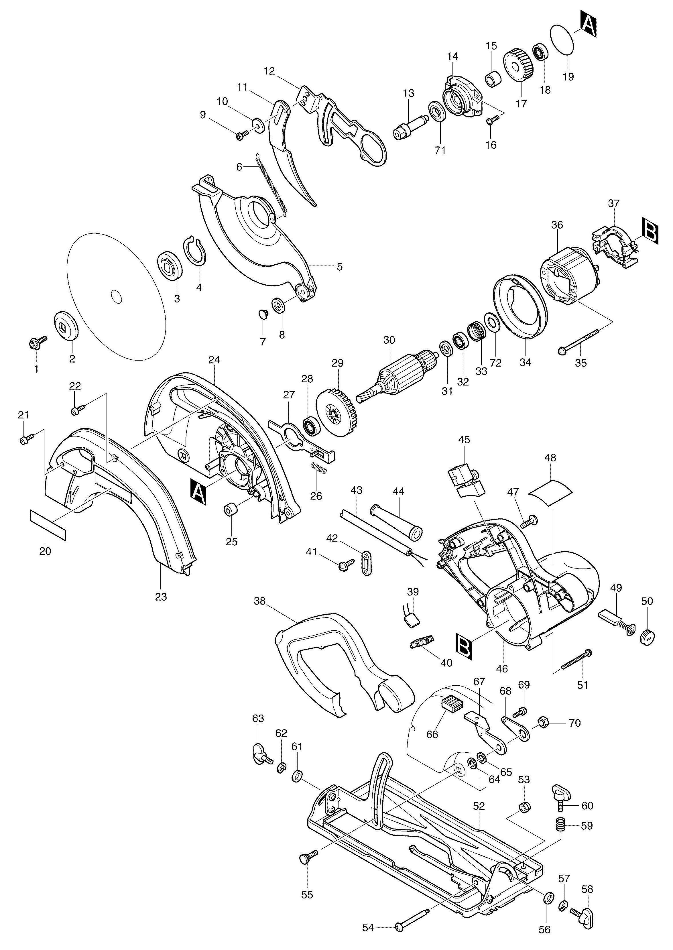 Spares For Makita R Corded Adjustble 165mm Circular