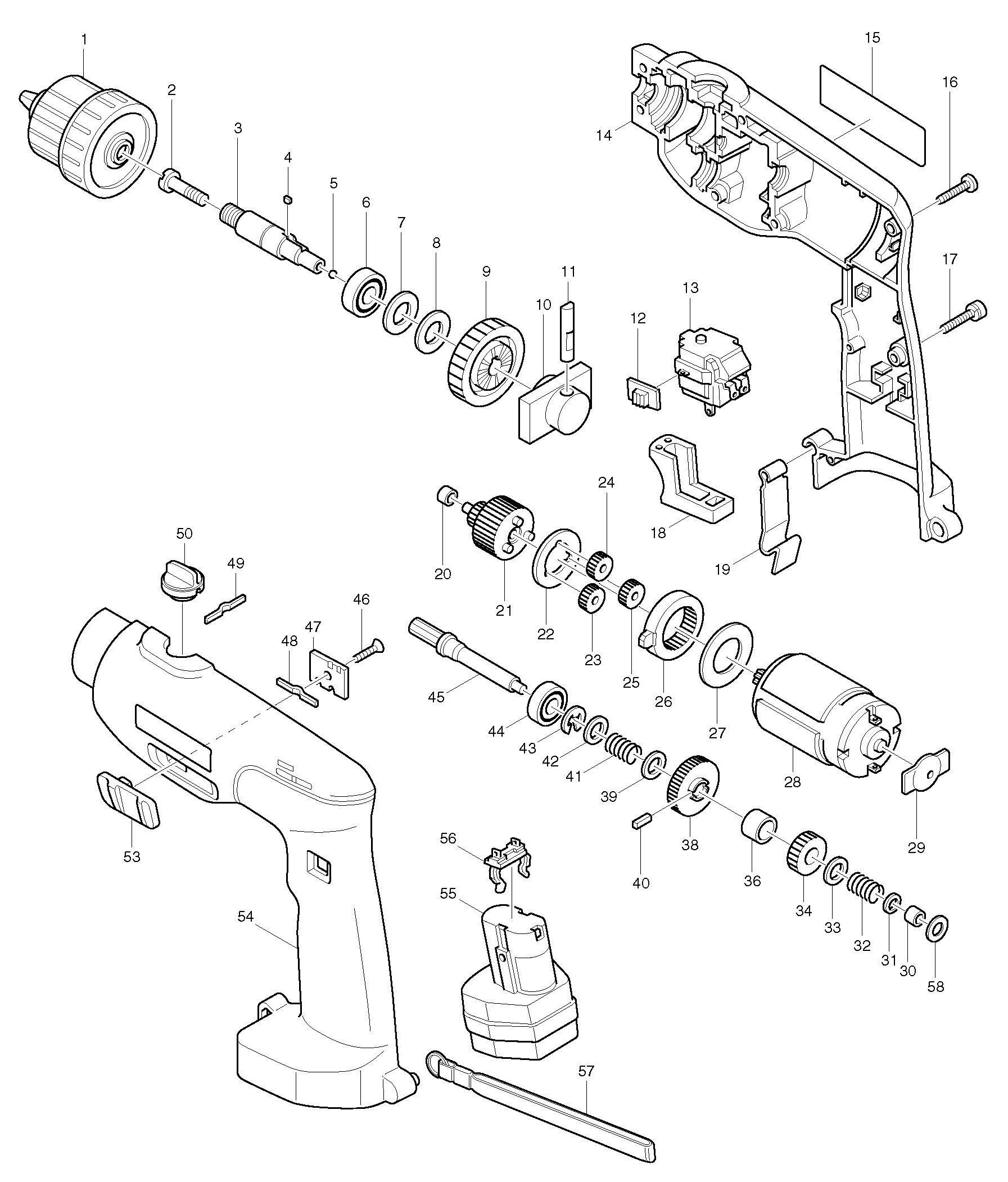 Spares For Makita D Percussion Drill Spare D From