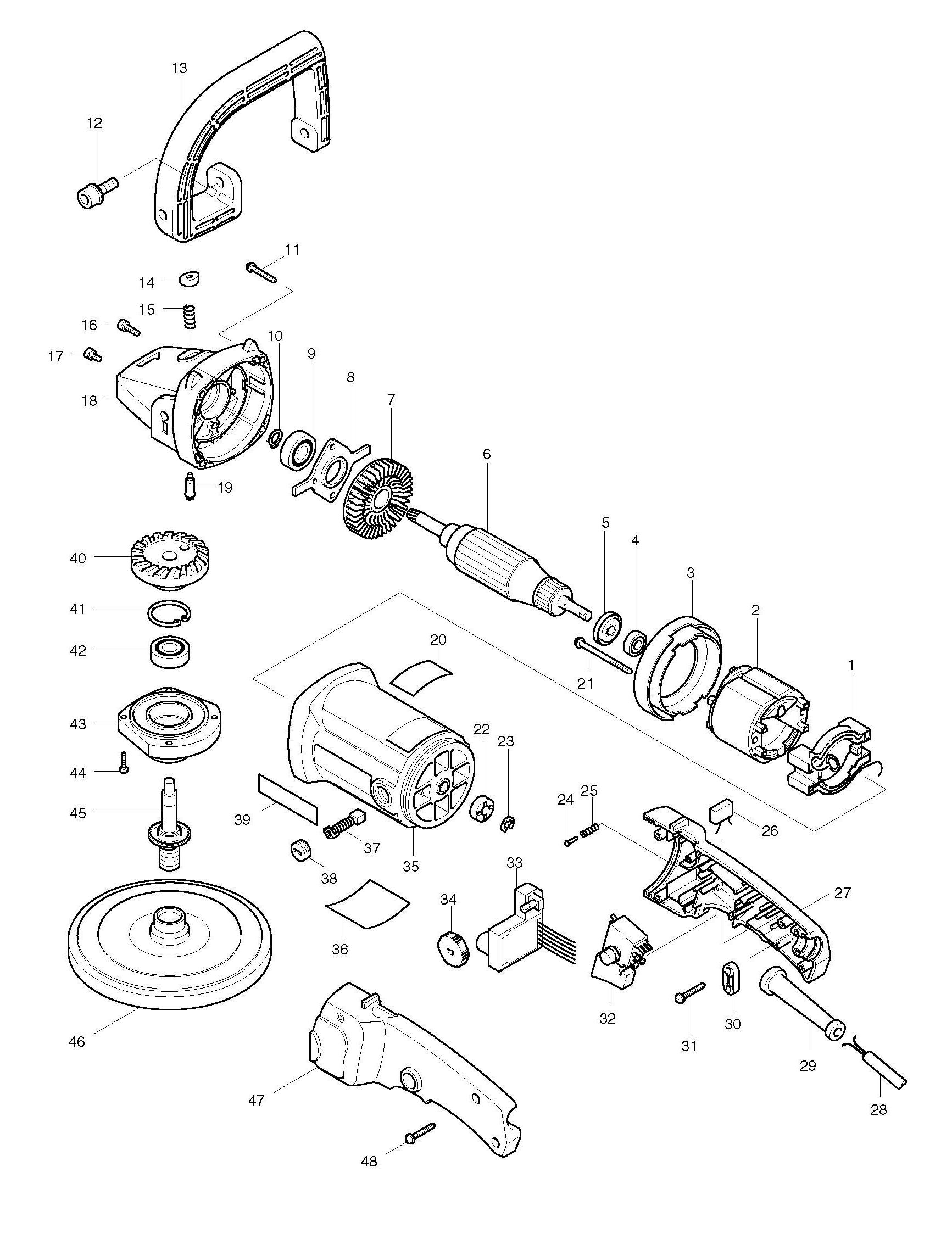 Spares For Makita Cb Sander Polisher 180mm Spare