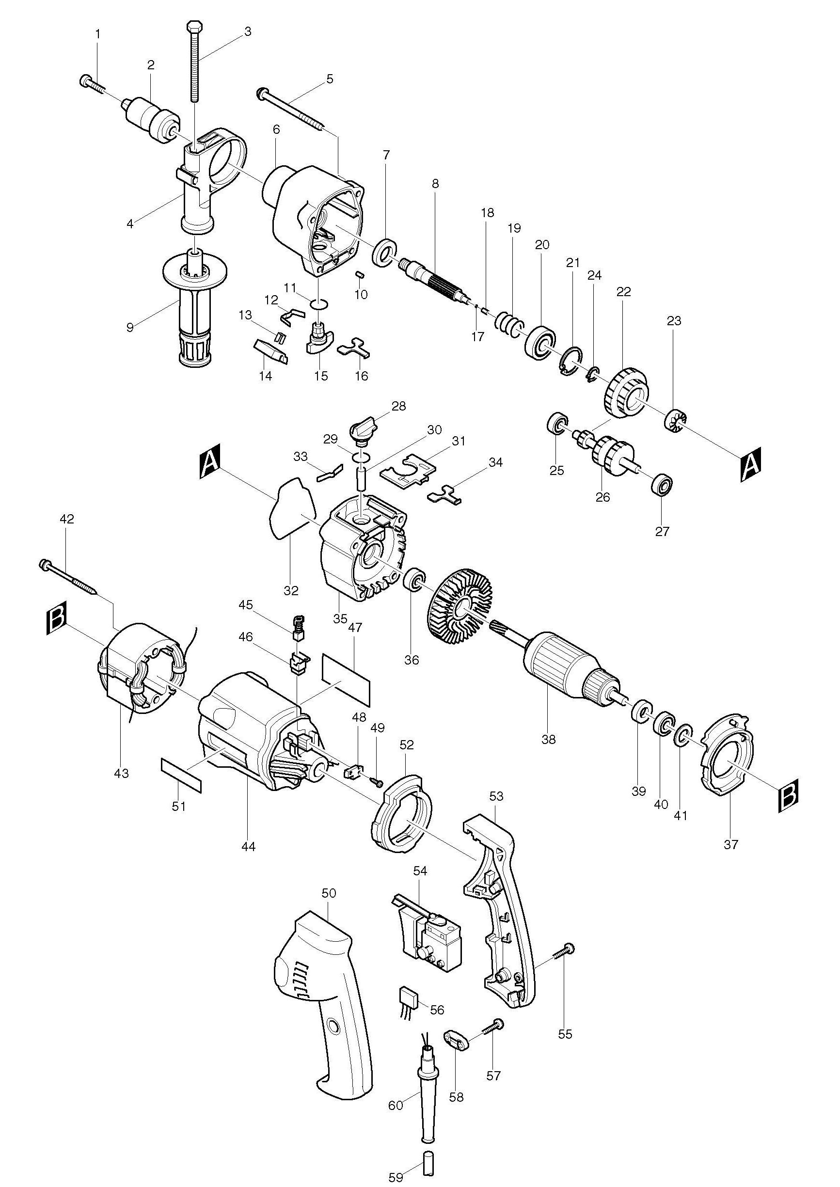 Spares For Makita Hp Percussion Drill Spare Hp