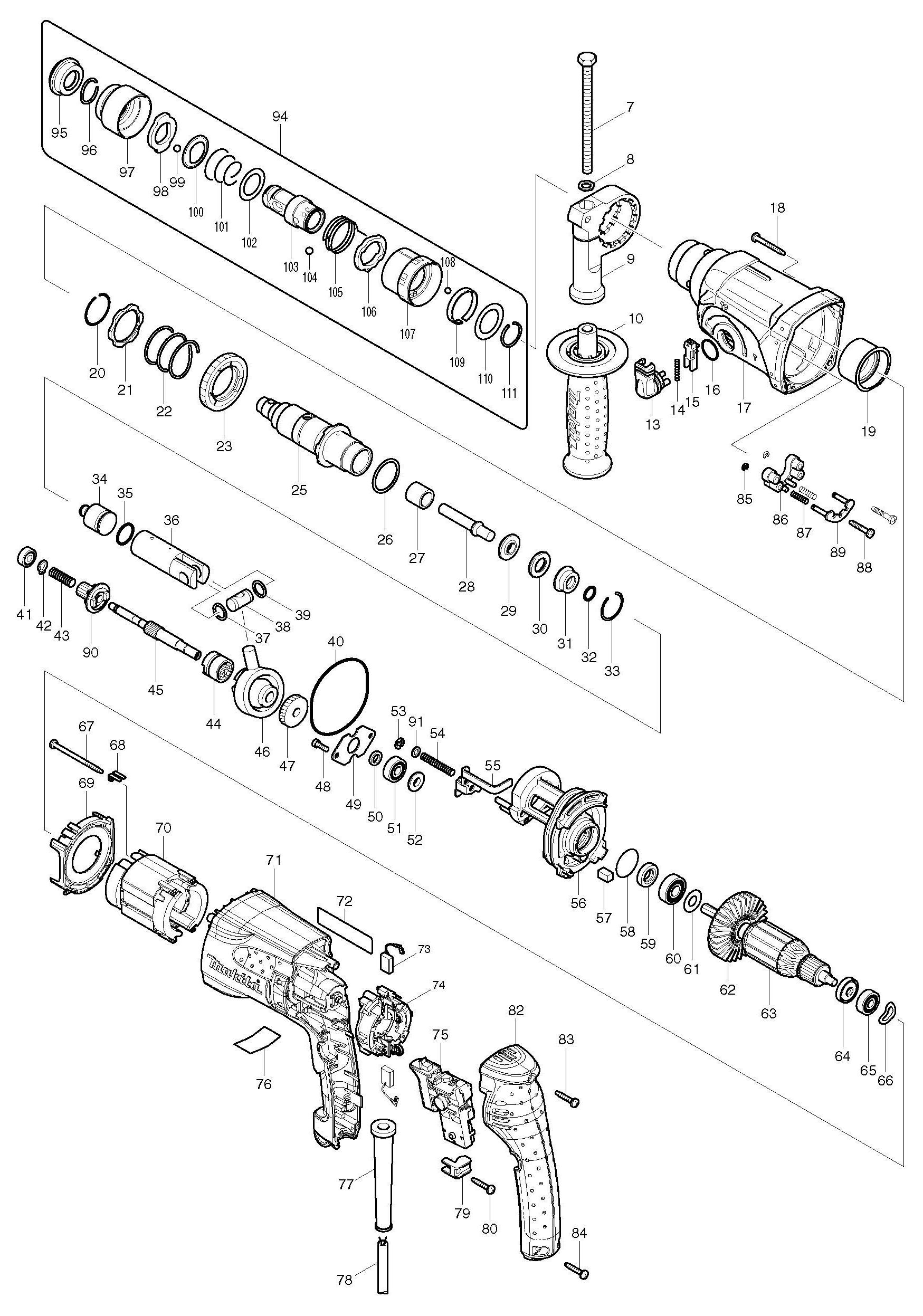 Wiring Diagram For Makita 1 2 Quot Angle Drill. . Wiring Diagram on