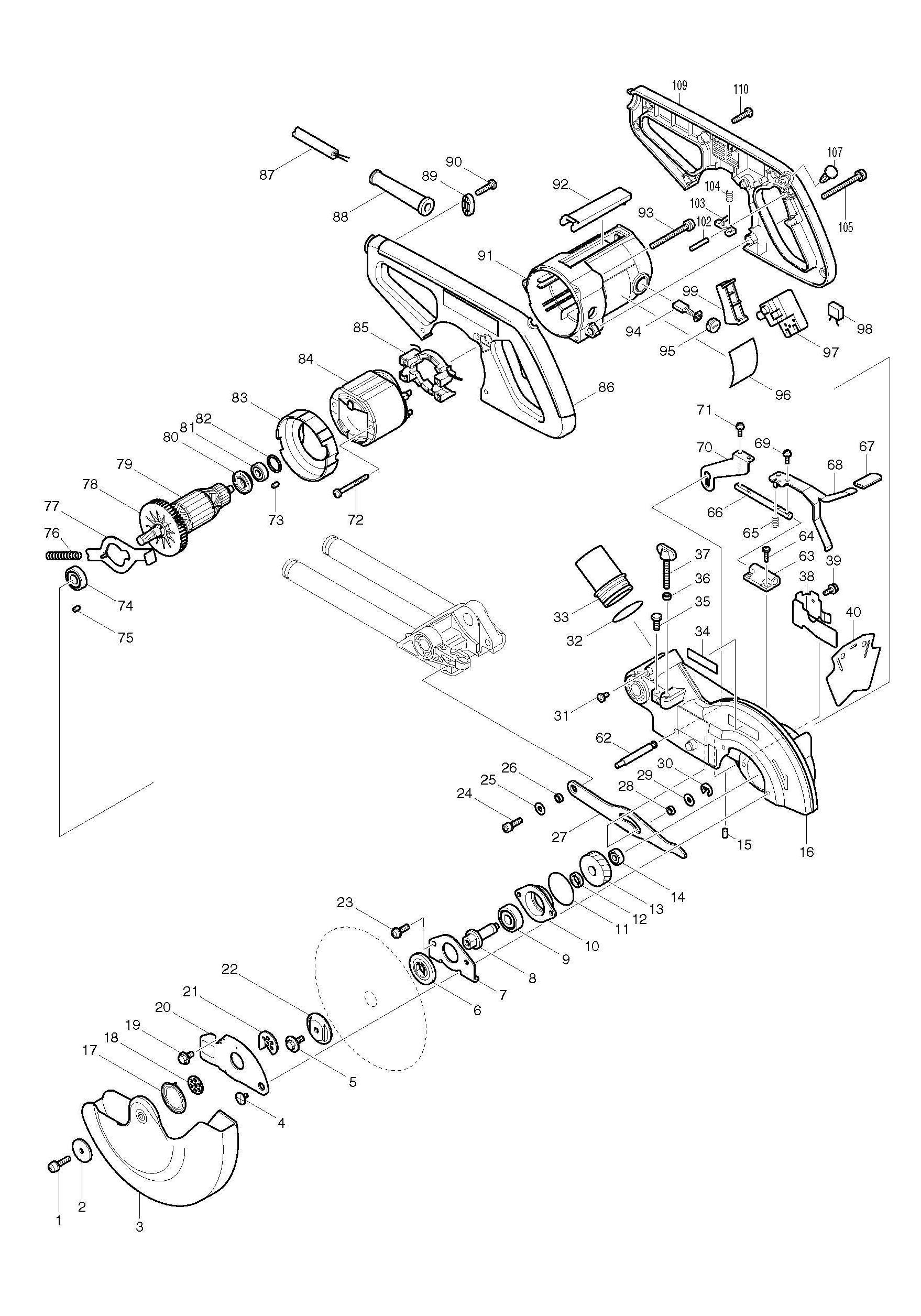 Spares For Makita Ls Slide Compound Mitre Saw 190mm