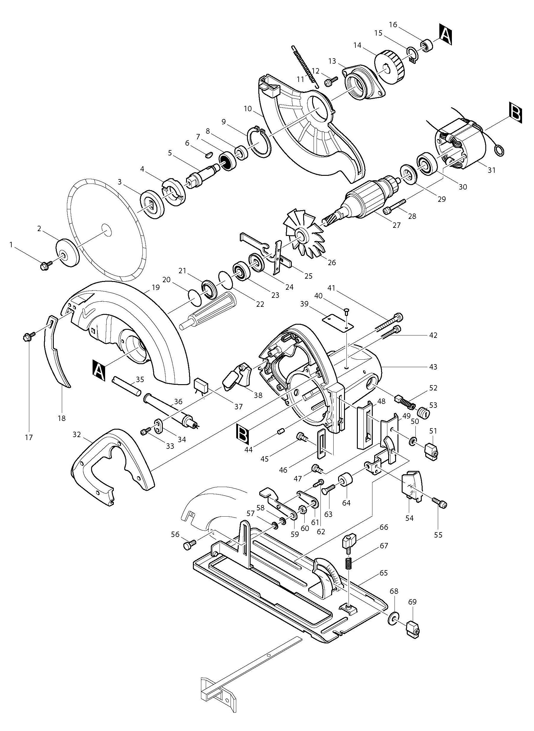 Spares For Makita Sr Circular Saw Spare Sr From