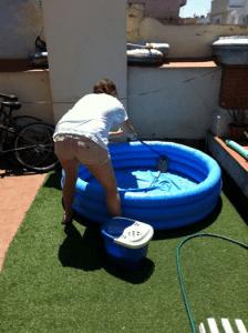 It is important to keep your kiddie pool clean.