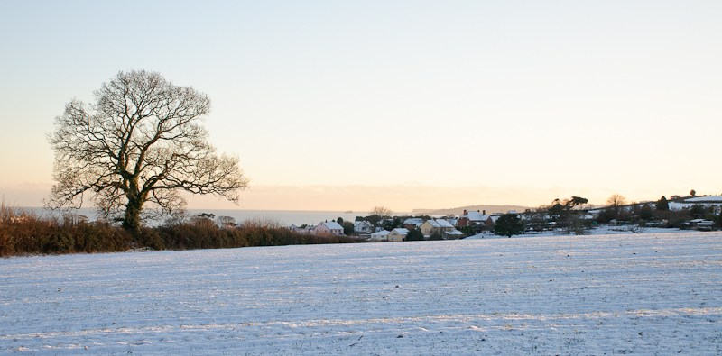 Snow near Dawlish