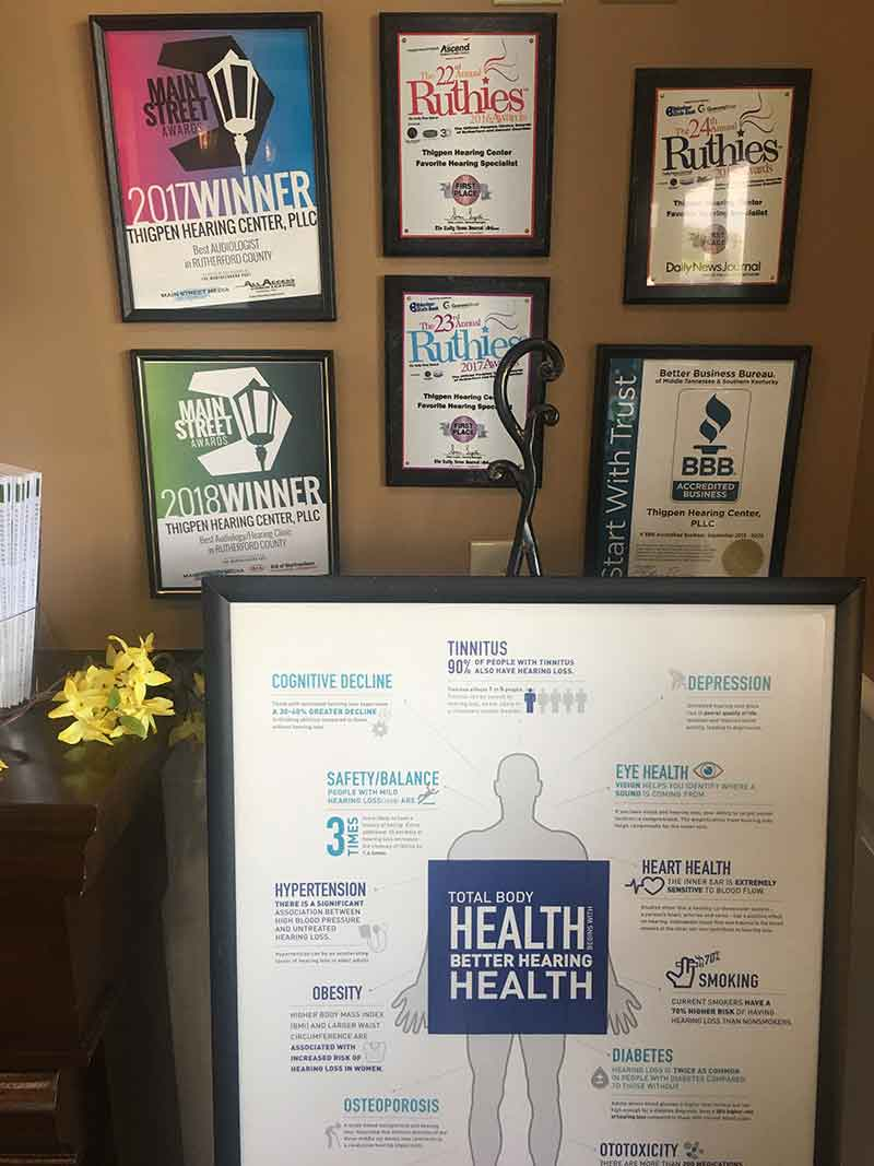 The Awards received by Thigpen Hearing Center