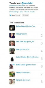 Twitter Translators Top Romania