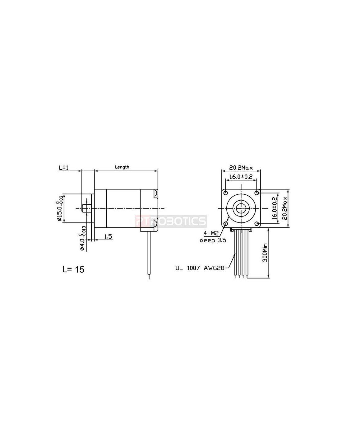 Stepper Motor Bipolar 200 Steps Rev 20 30mm 3 9v 0 6