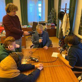2020_01_08: Ö1 besucht das Radiostudio der PTSDF
