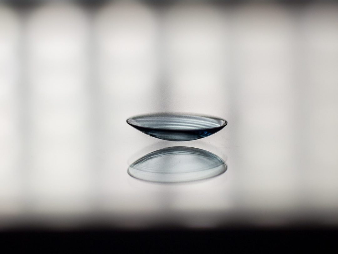 Image of GP lens on table on Specialty Contact Lenses Page