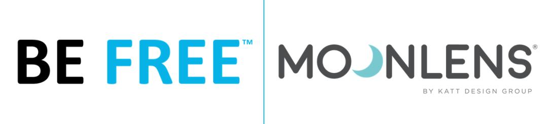 BE Free vs Moonlens logos