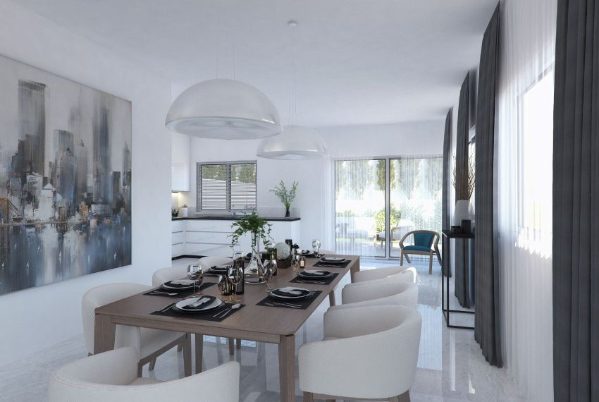 INTERIOR KITCHEN AND DINIGN AREAS HOUSES TO GARDEN_