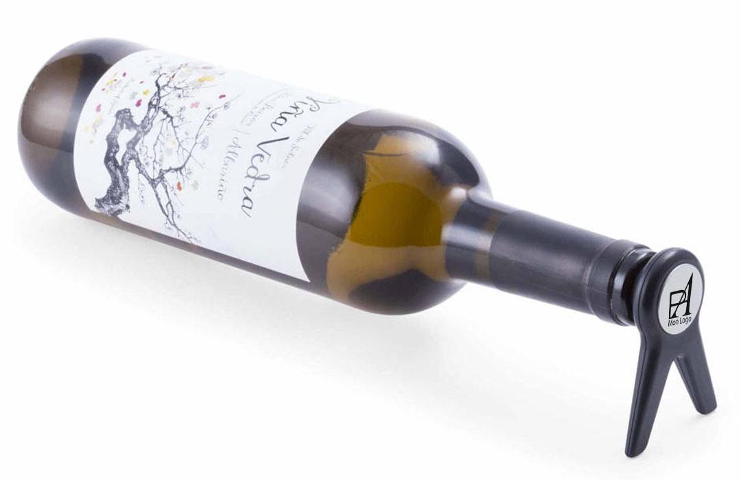 bouchon support bouteille de vin personnalisable