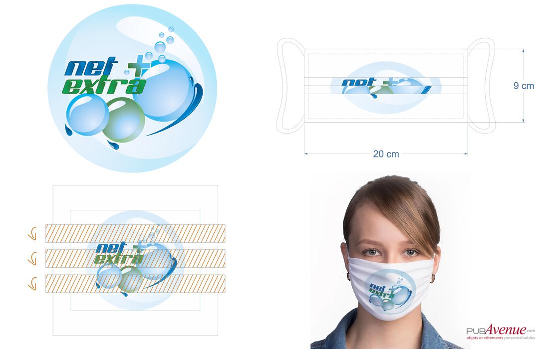 Masque personnalisé avec logo