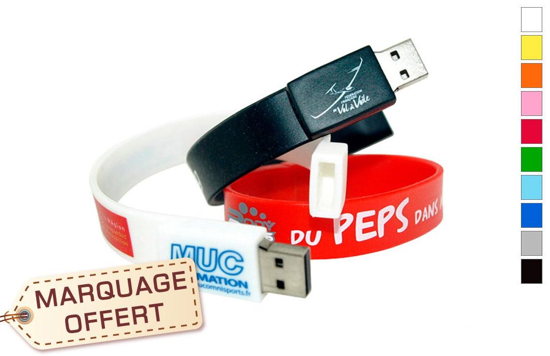 bracelet clé usb personnalisée