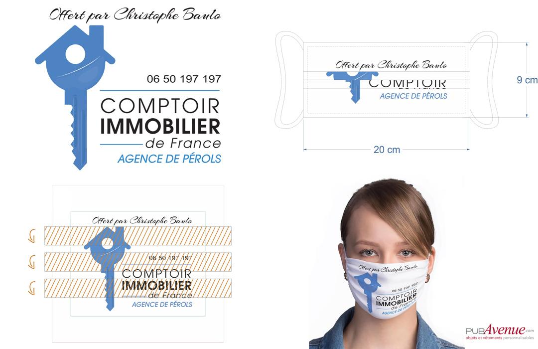 masque de protection covid personnalisé avec logo