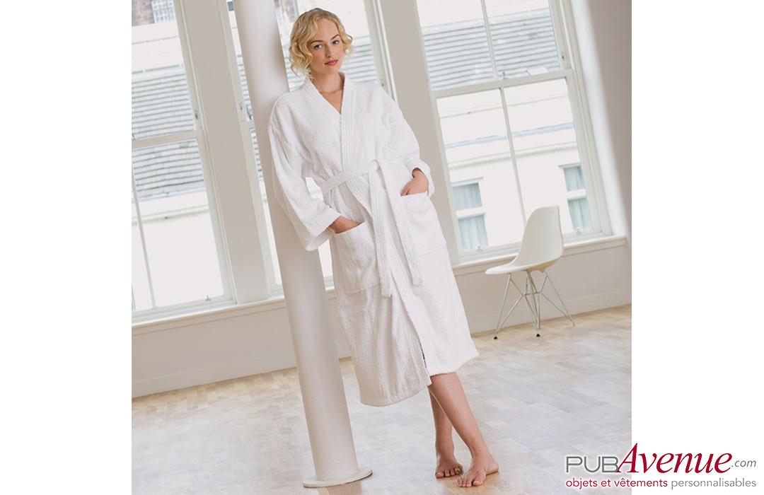 peignoir de bain pour femme personnalisé PubAvenue