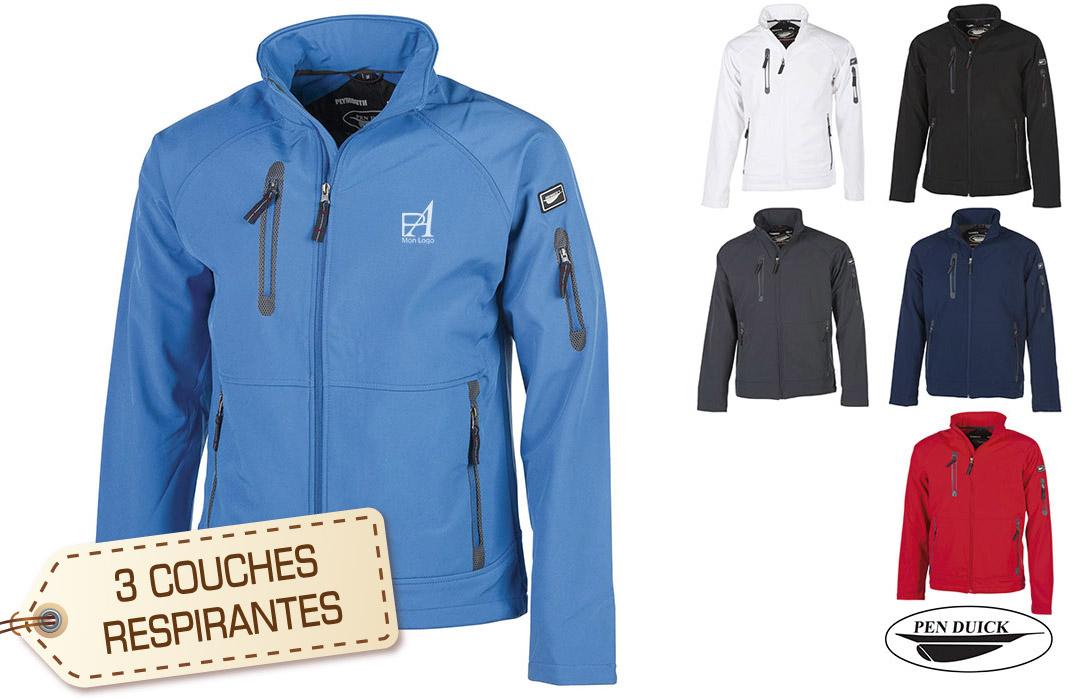veste softshell personnalisée pour homme