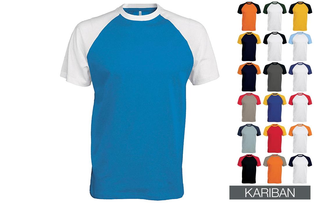 tee shirt publicitaire base ball - PubAvenue