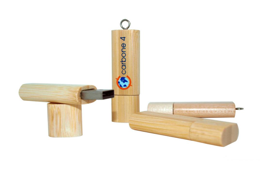 clé usb personnalisée en bois - PubAvenue