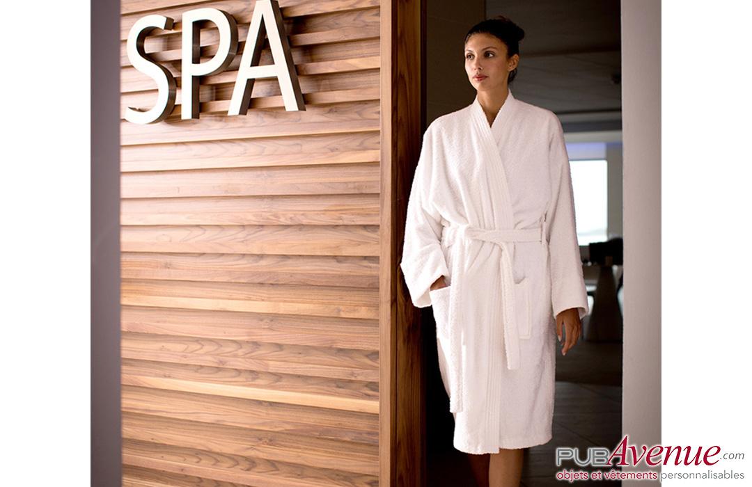peignoir de bain pour spa