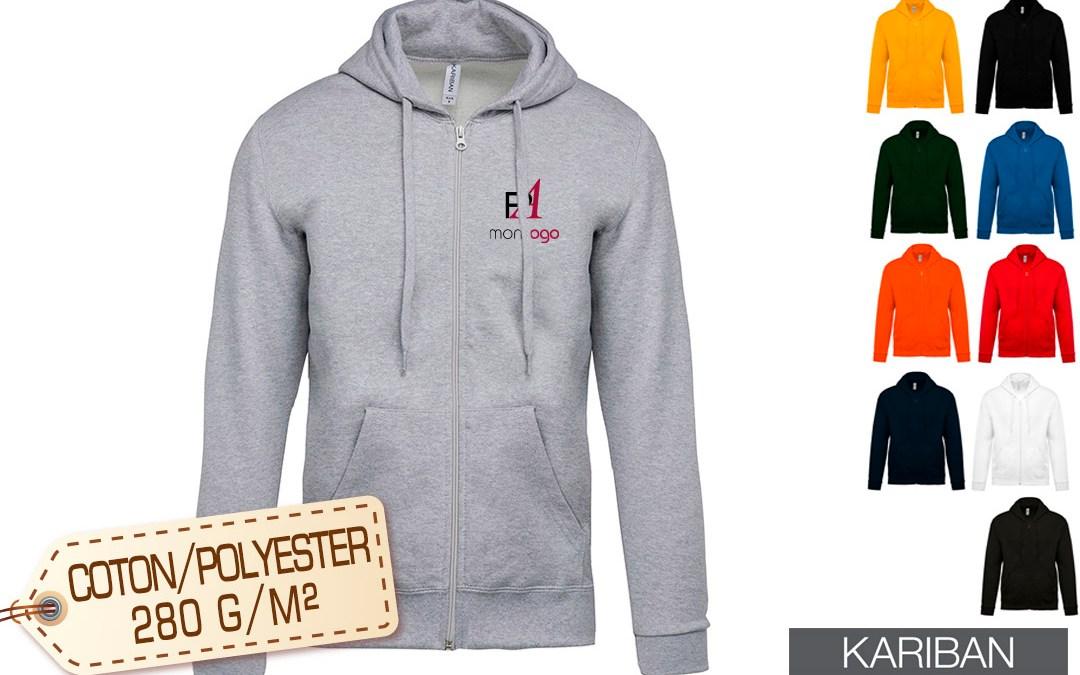 Sweat personnalisé avec logo le vêtement publicitaire à floquer