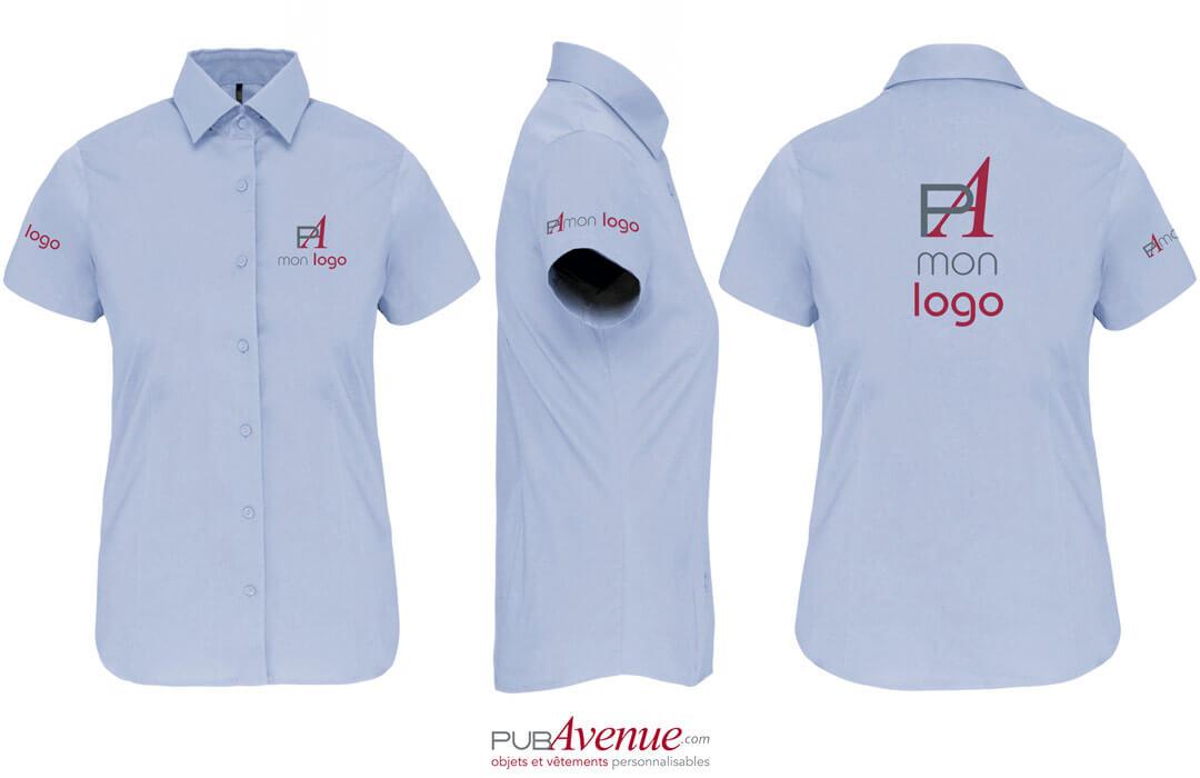 chemise personnalisée pour femme