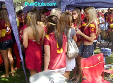 USC Football tailgate party