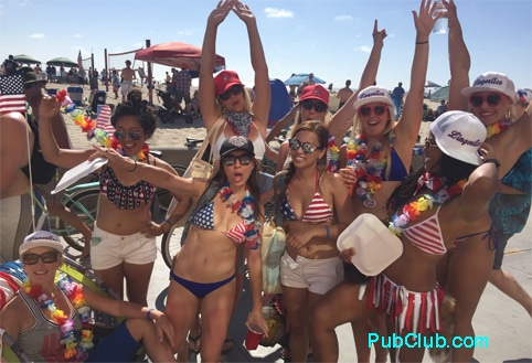 4th July Hermosa Beach lei girls