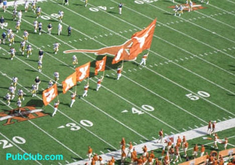 Texas football game day flags
