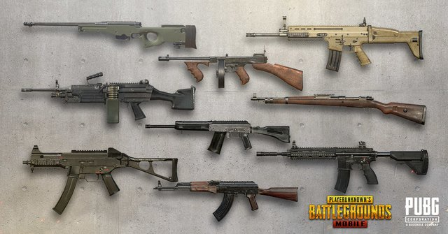 افضل واقوى انواع اسلحة لعبة ببجي pubg mobile بالصور