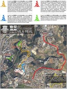 Condicionamentos no transito da cidade devido às provas do Circuito Internacional de Vila Real/ Direitos Reservados