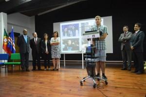 O aluno premiado, Gonçalo Madureira