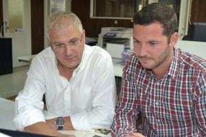 Laranjo, presidente da associação e Cândido Henriques, coordenador técnico da RefCast/ Foto: Salomé Ferreira