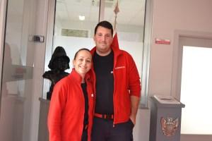 Isabel Pereira e Vítor Fernandes, bombeiros Voluntários da Cruz Branca de Vila real