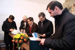 O protocolo foi assinado no alto da Serra do Marão | Foto: Direitos Reservados