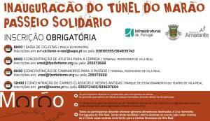 Programa de inauguração do Túnel do Marão