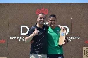 Paulo Costa e Ricardo Dias, vencedor da Meia Maratona/ Foto: Salomé Ferreira
