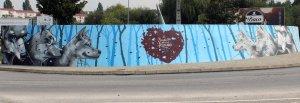 Mural dedicado ao Lobo Ibérico / Foto: Direitos Reservados