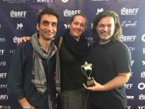 Bruno Silva, Nucha Martins e Betto Coville no Festival de Cinema em Los Angeles/ Foto: Direitos Reservados