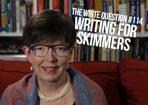 how to write for skimmers