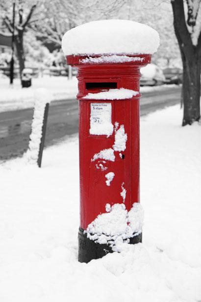 British Post Box In Winter Free Stock Photo Public