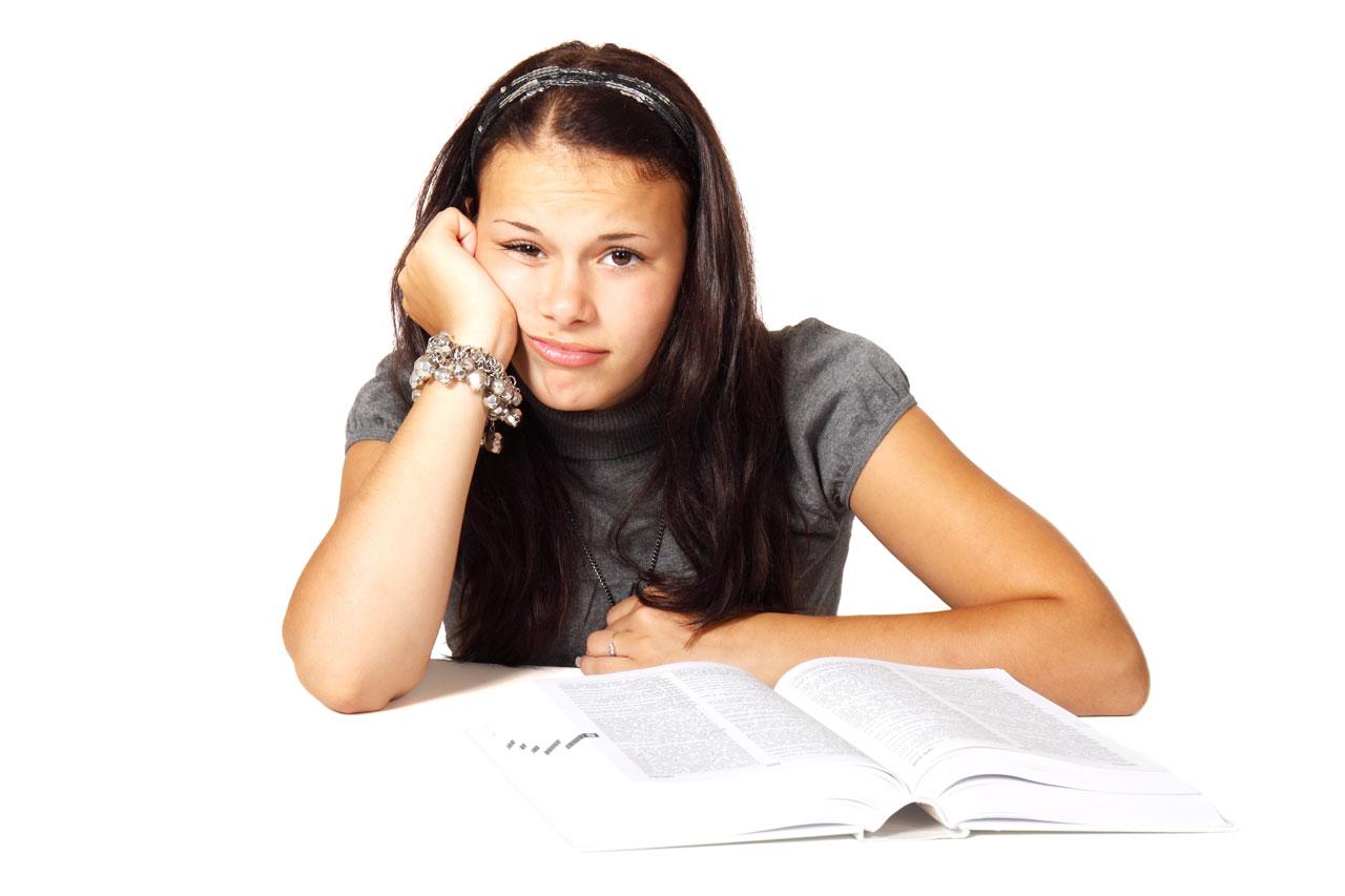 Langeweile Frau Studium