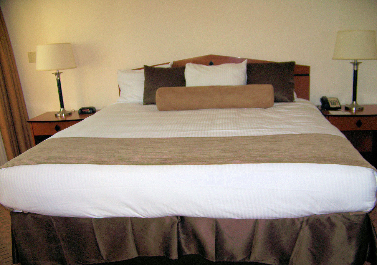 Hotel King Size Bed Free Stock Photo